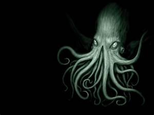Tentacles Cthulhu Octopus Fantasy Art Black Background HD ...