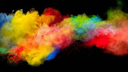 Colorful Explosion Background Powder Colors Smoke Rainbow