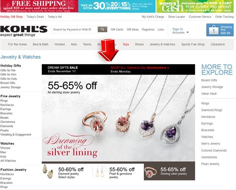 kohls sports fan shop kohls jewelry watches coupon code
