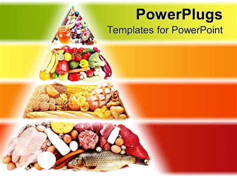 powerpoint template food pyramid  foods