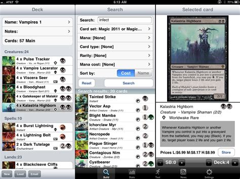 mtg deck list app magic the gathering deck builder app for decked