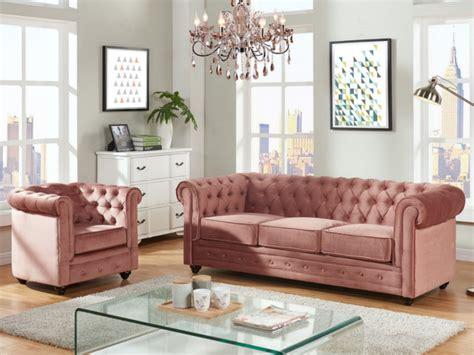 canapé et fauteuils canapé et fauteuil velours bleu ou chesterfield