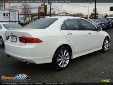 2007 acura tsx sedan premium white pearl parchment photo