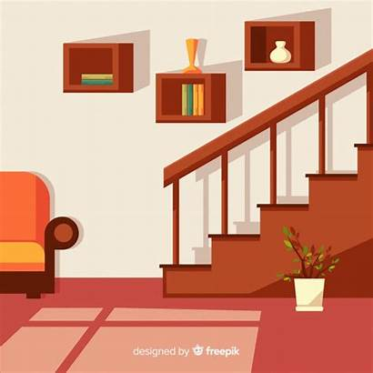 Vector Interior Stairs Modern Flat Freepik Save