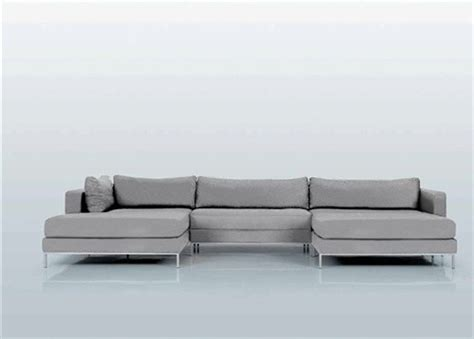 double chaise sectional sofa ahlmeda double chaise sectional modern sectional sofas