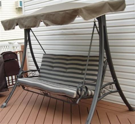 kmart patio swing chair customer photos martha stewart replacement cushions