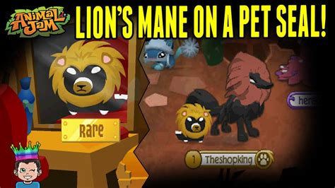 putting  lions mane   rare promo pet seal animal