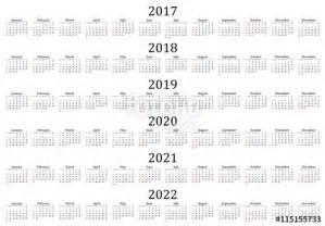Calendar 2017 2018 2019 2020 2021 2022
