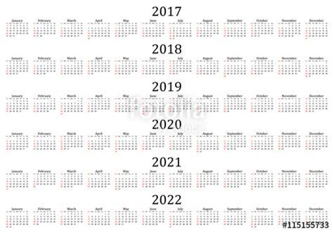 year calendar white