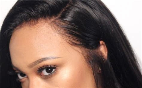 customize  lace frontal video black hair