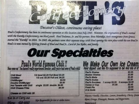 Coffee connection is located in decatur city of illinois state. Menu at Paul's Confectionery cafe, Decatur