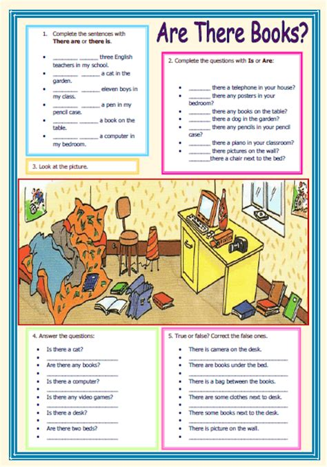 there is there are worksheet for there is there are elementary worksheet