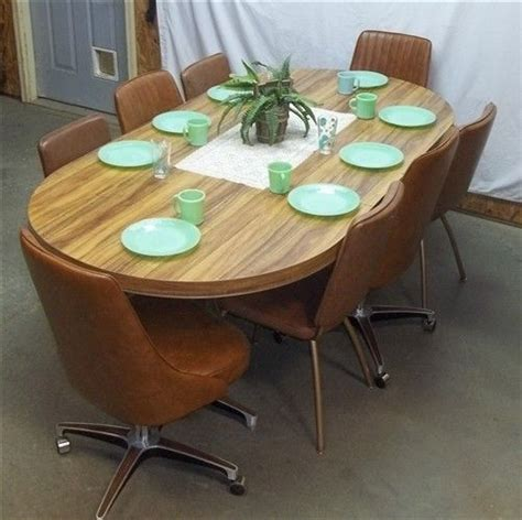 kitchen table 8 chairs retro table 8 chairs dining room kitchen danish modern mid