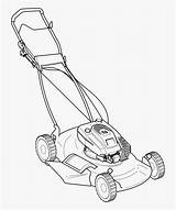 Coloring Mower Lawn Pages Push Mowers Clipart Clipartkey sketch template