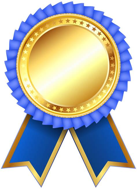 blue award rosette png clipar image ribbon design