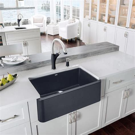 Granite Composite Apron Sink blanco ikon 30 quot apron front granite composite sink in