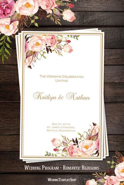wedding program templates diy printable order  service