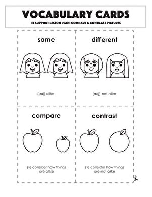 story elements compare contrast worksheet educationcom