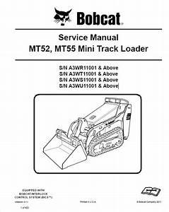 Bobcat Mt52  Mt55 Mini Track Loader Service Manual Pdf