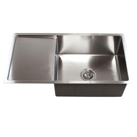undermount sink with drainboard 36 inch stainless steel undermount single bowl kitchen