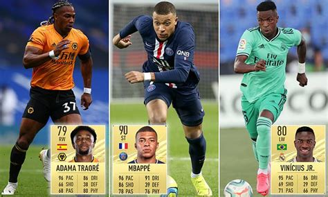 Kylian Mbappe, Adama Traore and Vinicius Junior are rated ...