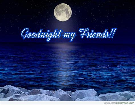 Good Night Friends Comments, Pictures, Graphics For