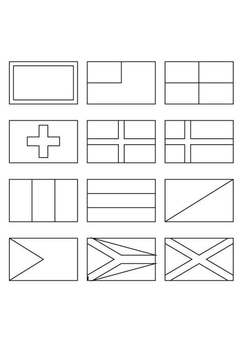 Coloring Flag by Printable Coloring Pages Of Flags Around The World 5