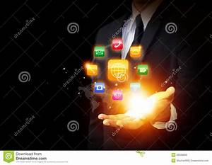 Applications Icon And Modern Technology Stock Photo