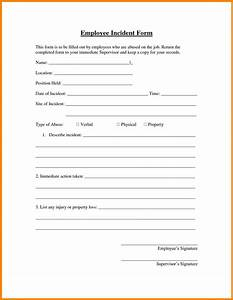 7 hr incident report template address example With hr incident report template