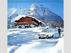 Bavarian Alps winter vacation 1964 calendar Opel
