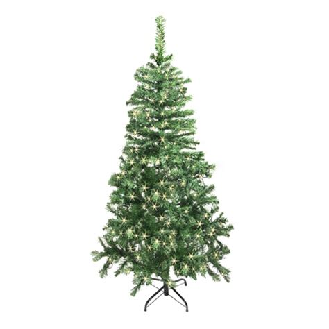 aleko 174 ct78h250hw 6 5 ft christmas tree with soft white