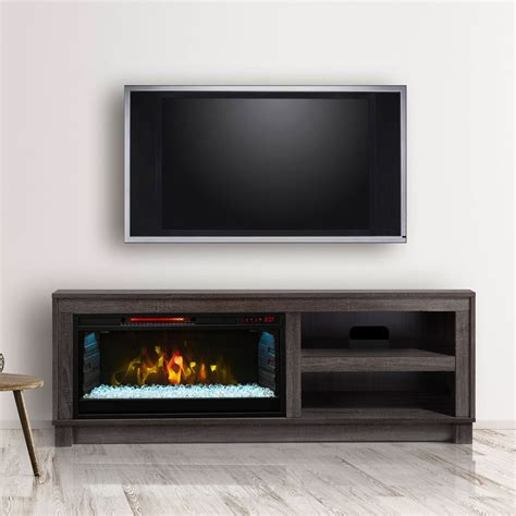 Kamin Und Fernseher by Cameron Electric Fireplace Tv Stand In Grey Cs 28mm1030