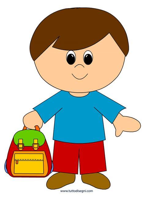 clipart per bambini bambino con zaino disegni per bambini tuttodisegni