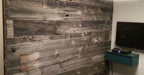 reclaimed grey barn board feature wall  barnboardstore
