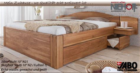Hohes Bett Mit Stauraum by Holzbetten Massivholz Jabo Massivholz Betten Und
