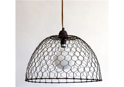 chicken wire basket pendant l remodelista
