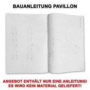bauanleitung pavillon 6 eckig profi bauanleitung garten pavillon gartenhaus 6 eckig mit cd ausf 220 hrung ebay