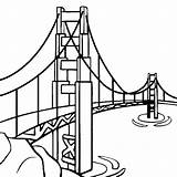 Bridge Gate Golden Clipart Drawings Easy Library Clip Drawing sketch template
