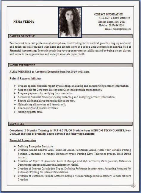 Best Resume Format Sample
