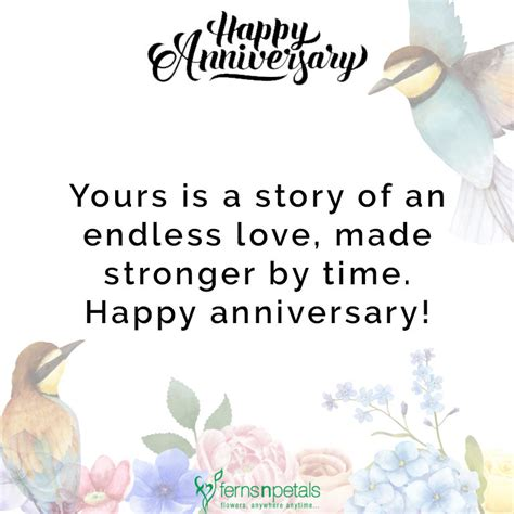 happy anniversary wishes quotes  messages ferns