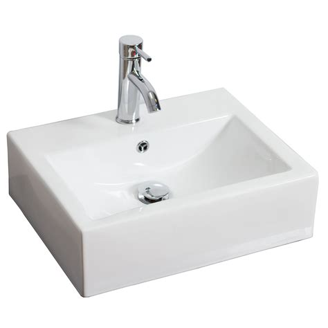Rectangle Bathroom Sink by American Imaginations Rectangle Vessel Bathroom Sink