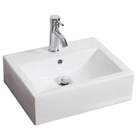 Rectangle Sinks Bathrooms by American Imaginations Rectangle Vessel Bathroom Sink