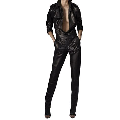 leather jumpsuits cool style leather jumpsuit