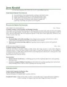 career counseling resume sles exle credit counselor resume free sle