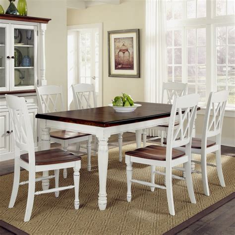 Shop Home Styles Monarch White Oak Dining Set With