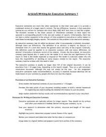 What To Write In An Executive Summary For A Resume by Free Sle Sle Summary Essay Resume Daily