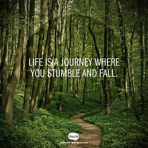 Life is a journey where you stumble and fall. - Quote From ...