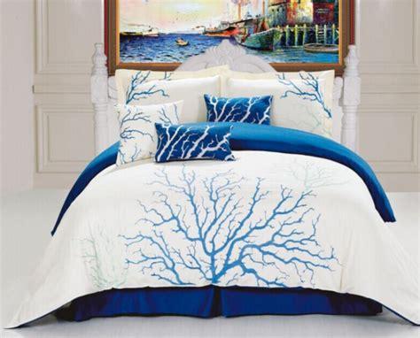 Blue Coral Bedding Set  Nautical Snob