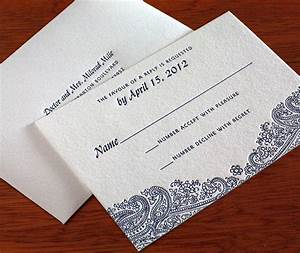 floral paisley indian wedding rsvp envelope letterpress With how to address indian wedding invitations