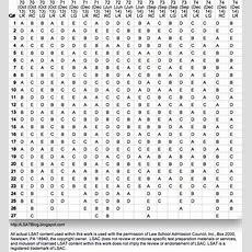 Lsat Answer Keys For Every Preptest Exam
